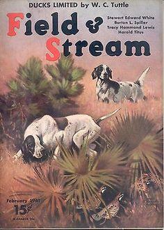 2 1941 Field Stream Magazine Lynn Bogue Hunt | eBay