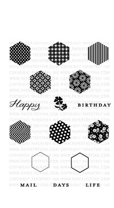 PTI - Happy Hexagons Mini Stamp Set
