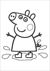 Peppa Pig coloring page...could enlarge to poster size for group coloring, backdrop or table covering