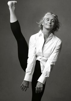 Dancer Twyla Tharp photographed by Annie Liebovitz