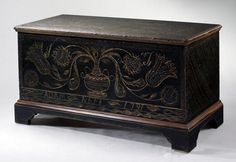 paint decorated blanket chest - Google Search