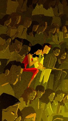 Pascal Campion - There's nothing wrong with sentimentality and Pascal Campion embraces it entirely in his lovely and romantic illustrations of young couples f. Couple Illustration, Illustration Art, Pascal Campion, My Sun And Stars, Animation, Visual Development, Couple Art, Storyboard, Les Oeuvres