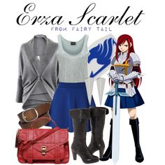 """[Fairy Tail] Erza Scarlet"" by animangacouture on Polyvore  www.otakucouture.com"