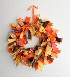 belle maison: DIY Fall Decorating Projects...i can see this with fabric scraps and a duct taped pool noodle for a cheap and easy craft that still looks nice