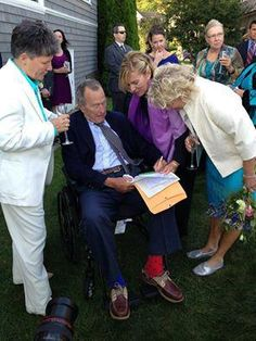 Did President George H.W. Bush officially come out and support marriage equality?