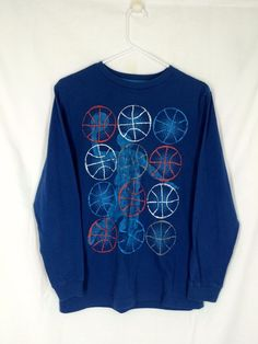 Boys THE CHILDREN'S PLACE Shirt 14 16 Blue XL Cotton Polyester Long Sleeve Solid #ChildrensPlace