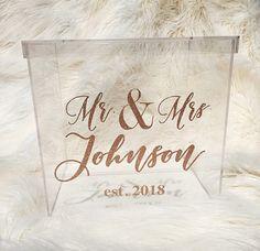 Personalized Wedding Card Box I Acrylic