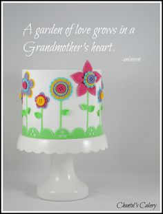 Mother's Day Cakes - A fun little cake to welcome Grandma and Grandpa.  Babysitters for 6 weeks!!!
