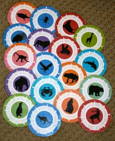 This is a PDF file of 27 animal cards including: bat, horse, alligator, walrus, hummingbird, rhino, bear, shark, lion, kangaroo, spider,