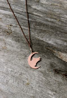 wolf totem / spirit animal / handmade copper necklace crescent moon  by OrganicAlchemist, $38.00