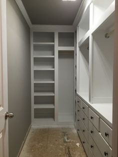 Ideas Small Master Closet Remodel Built Ins For 2019 Closet Redo, Walk In Closet Design, Bedroom Closet Design, Closet Remodel, Build A Closet, Master Bedroom Closet, Bathroom Closet, Closet Designs, Narrow Bedroom