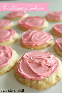 Frosted Meltaway Cookies @FoodBlogs