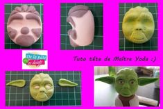 Fondant Tutoriels #1: Head Yoda - CakesDecor