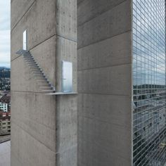Terrifying (and real) Staircase On Exterior Wall of Skyscraper. #dwellinggawker