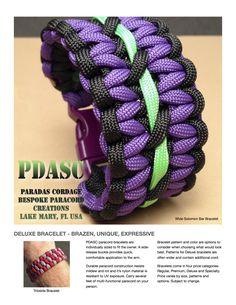 Deluxe Bracelets / Pulseras #paracord #pdasc