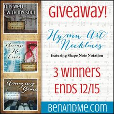 Hymn art necklace giveaway!