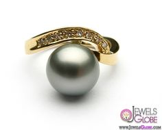 Top Pearl Rings For Sale - Top Jewelry Brands, Designs & Online Jewellery Stores Pearl Rings, Pearl Jewelry, Band Rings, Jewelery, Tahitian Pearl Ring, Tahitian Black Pearls, Hawaiian Fashion, Jewelry Branding, Mens Fashion