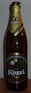 Velke Popovice Pivovar -Velkopopovicky Kozel premium 5,0% pullo & hana