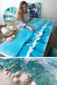 Swirling Resin Art Uses Real Objects to Mimic the Untouched Beauty of the Ocean &; Alles pin Swirling Resin Art Uses Real Objects to Mimic the Untouched Beauty of the Ocean &;site picshareonlinesite all […] sea Epoxy Resin Art, Diy Resin Art, Diy Resin Painting, Resin Wall Art, Acrylic Pouring Art, Resin Artwork, Art Diy, Ocean Art, Ocean Ocean