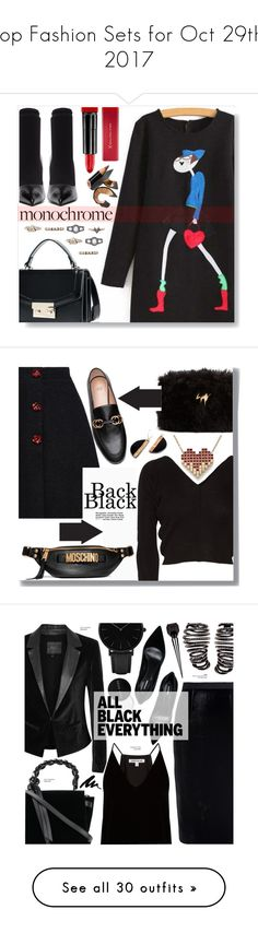 """""""Top Fashion Sets for Oct 29th, 2017"""" by polyvore ❤ liked on Polyvore featuring Balenciaga, Max Factor, Bobbi Brown Cosmetics, Ballet Beautiful, Giuseppe Zanotti, Moschino, Paige Denim, Roland Mouret, Elizabeth and James and Dsquared2"""