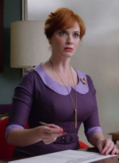 Joan Holloway Harris bitchface - someone's in trouble...