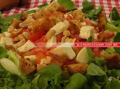 Receita de Salada torradinha