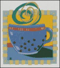Esquema de Cuadros sobre Café en Punto de Cruz (15)