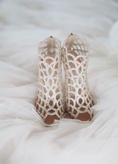 Featured Photographer: Mango Studios; Wedding shoes idea.
