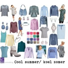 Cool summer color type/ koele zomertype.