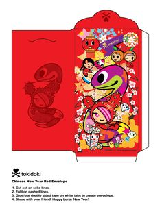 tokidoki chinese new year 2013 red envelope