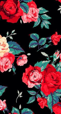 Red Roses ★ Find more Cute Vintage wallpapers for your #iPhone + #Android…