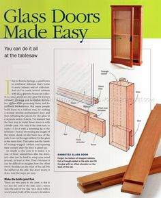 Making Glass Doors - Cabinet Door Construction