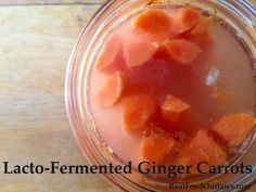 Carrots and ginger are a match made in heaven! Ferment them and it's pure bliss! Lacto-fermenting foods helps to preserve them
