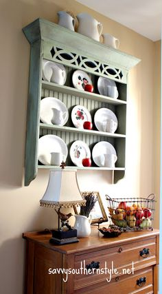 Savvy Southern Style: would love to have/make this shelving display unit