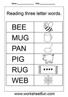 simple words worksheet