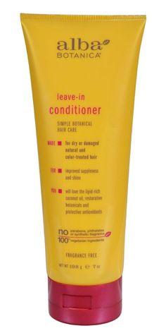 Alba Botanica Leave In Conditioner Fragrance Free - 7 Fl Oz