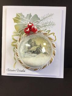Creative Christmas Cards, Homemade Christmas Cards, Christmas Greeting Cards, Holiday Cards, Snowflake Cards, Christmas Snowflakes, Christmas Baubles, Christmas Scenes, Shaker Cards