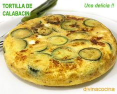 You searched for Tortilla - Divina Cocina Zucchini Cheese, Eggplant Zucchini, Eggplant Recipes, Quiches, Omelettes, Flan, Spanish Kitchen, Omelette Recipe, Tortilla Wraps