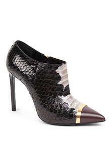 SAINT LAURENT Paris python ankle boots