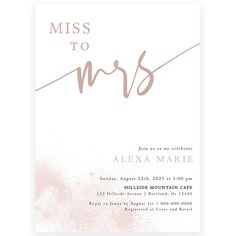 Miss to Mrs Bridal Shower Invitation | Forever Your Prints