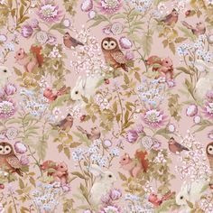 Woodlands Blush – Jimmy Cricket Deer Wallpaper, Blush Wallpaper, Wallpaper Paste, Home Wallpaper, Woodlands Wallpaper, Funky Wallpaper, Rustic Wallpaper, Forest Wallpaper, Botanical Wallpaper