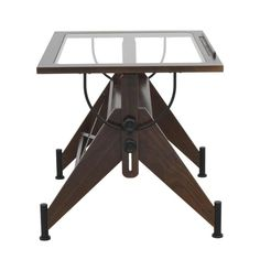 Studio Designs Aries Glass Top Drafting Table - Sonoma Brown/Clear Glass 13310 - Drafting & Drawing Tables at Hayneedle Desks For Small Spaces, Glass Office, Drafting Desk, Drafting Tables, Drafting Drawing, Home Decor Furniture, Dream Furniture, Fine Furniture, Vintage Furniture