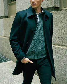 Fall fashion | Wool and cashmere top coat.