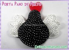Porta pano de prato de galinha de Angola - Drika Artesanato