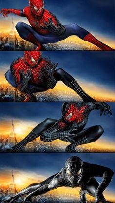 Spiderman 2002, Spiderman Black Suit, Spiderman Movie, Spiderman Spider, Amazing Spiderman, Marvel Comics, Marvel Venom, Marvel Heroes, Marvel Avengers