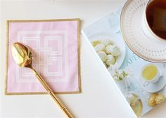Morgan Classic Cocktail Napkins in Light Pink by The Blush Label