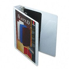 ClearVue Premium 1.5-inch Slant-D Presentation Binder