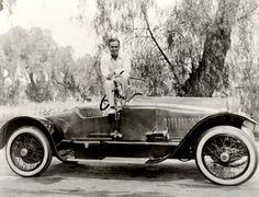 Douglas Fairbanks and a Stutz Bearcat Automobile, 1918