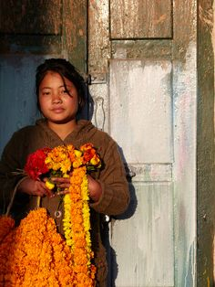 marigold vendor, Katmandhu