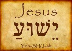 His Name is YESHUA